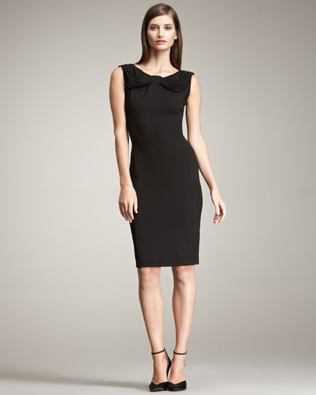 Milano Drape-Neck Dress