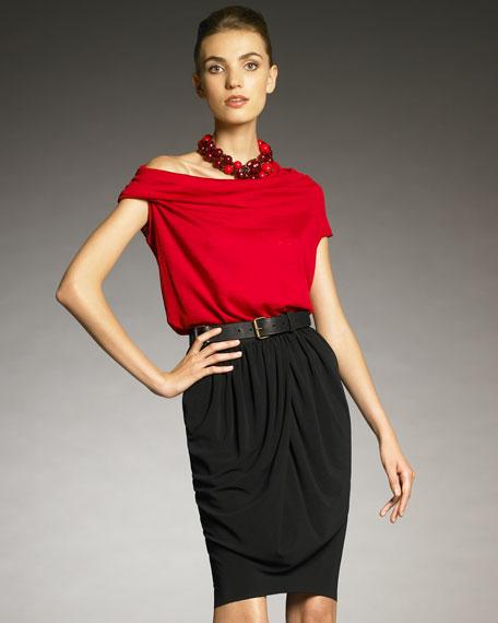 Drape-Front Skirt