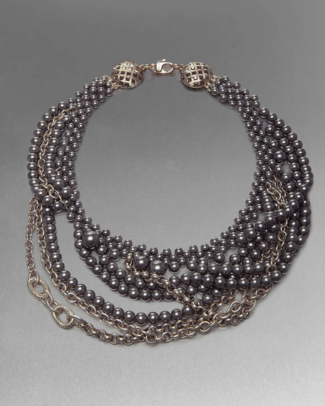 Pearl and Chain Necklace