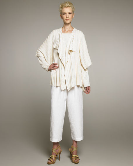 Japanese Linen Cropped Trousers
