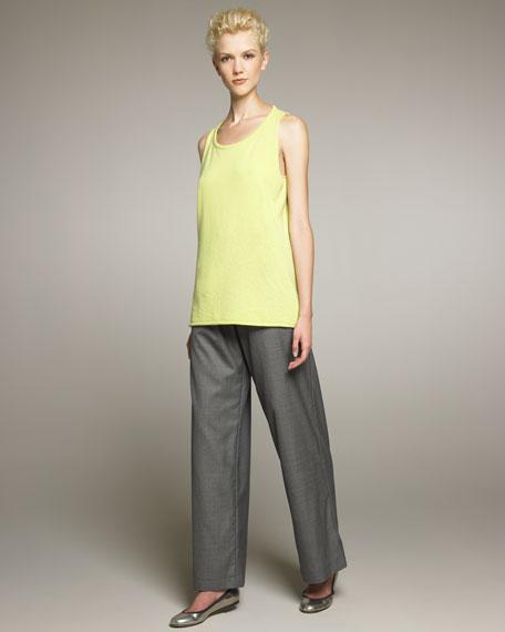 Drawstring Wool Trousers