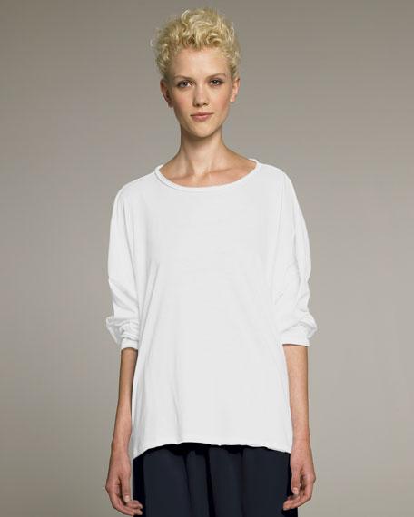 Lightweight Scoop-Neck Top, White