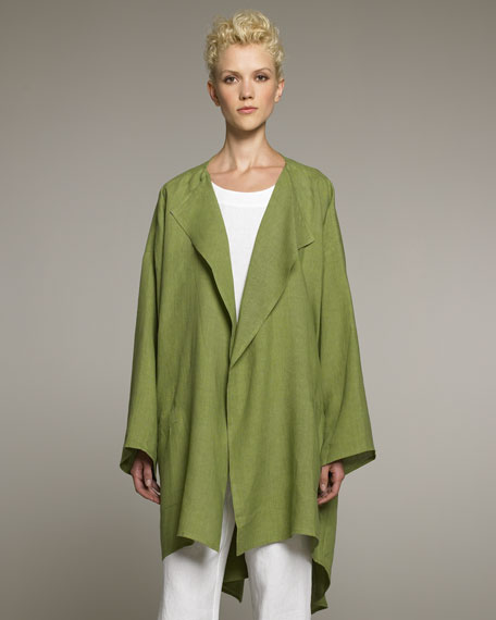 Lightweight Long Linen Jacket