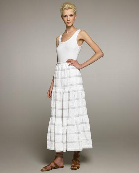 Petticoat Skirt, White/Blue