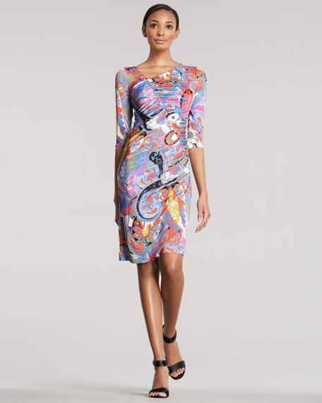 Bias-Ruched Dress