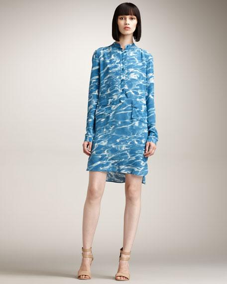 Water-Print Tunic Dress