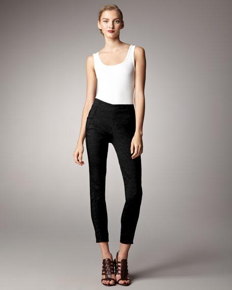 Stretch Straight-Leg Pants