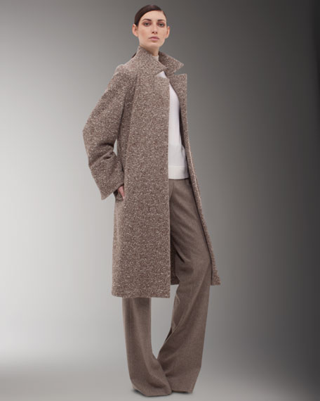 A-Line Tweed Coat