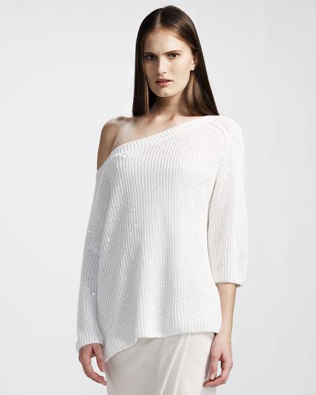 English-Rib Paillette Sweater