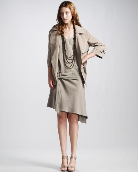 Belted Drop-Waist Dress