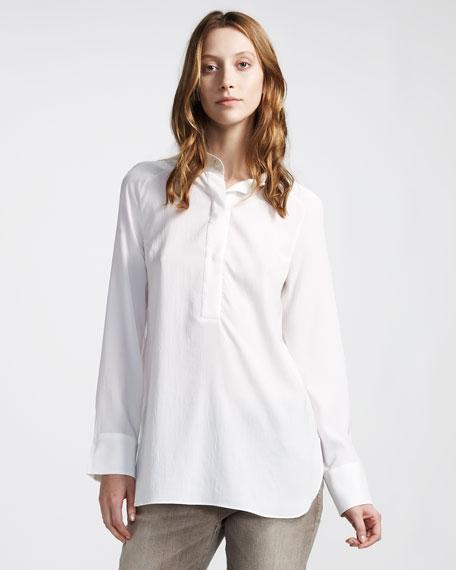 Mandarin-Collar Henley Top