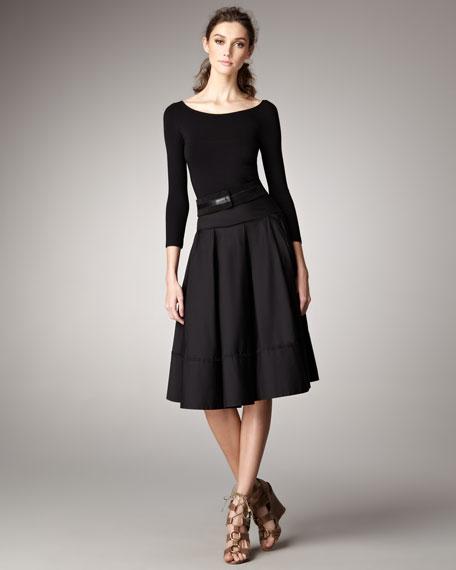 V-Back Jersey Bodice Dress