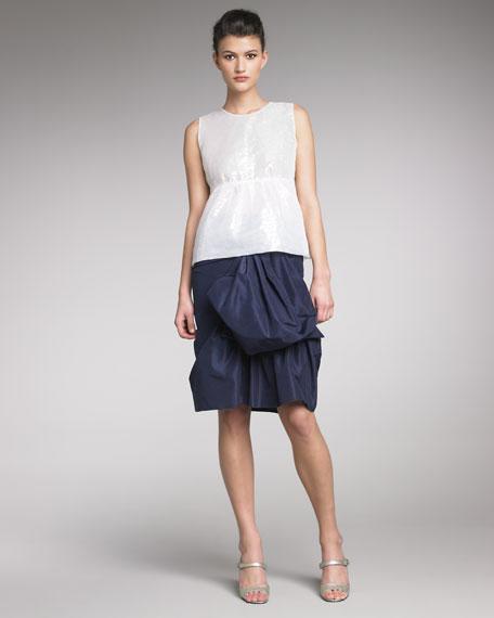 Bustled Faille Skirt