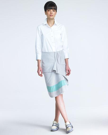 Flounce-Front Skirt