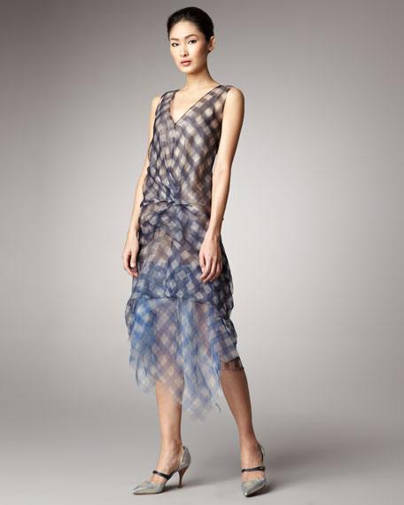 Gingham Organza Dress