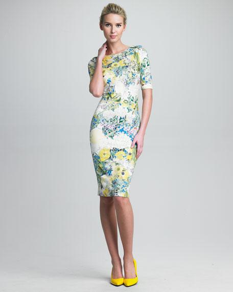Wilhemina Floral-Print Dress