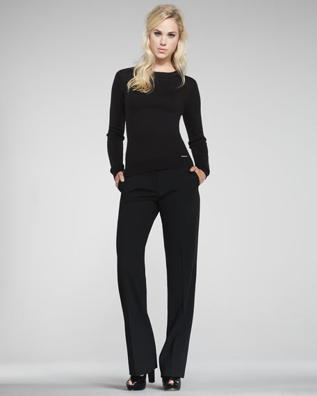 Serge Straight-Leg Pants, Black