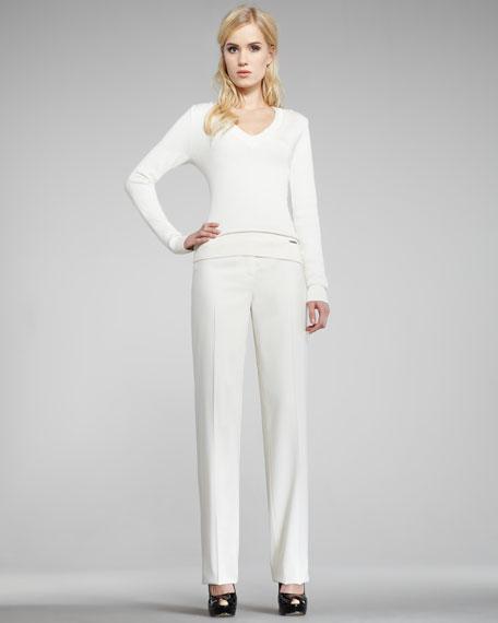Serge Straight-Leg Pants, White