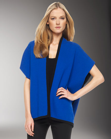 Double-Knit Cardigan, Cobalt