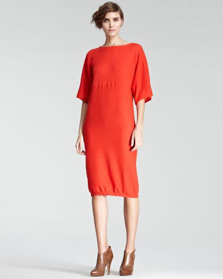 Dolman-Sleeve Knit Dress