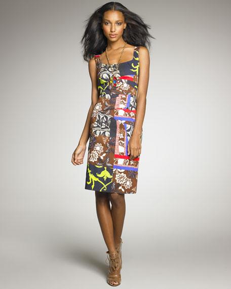 Patchwork-Print Dress