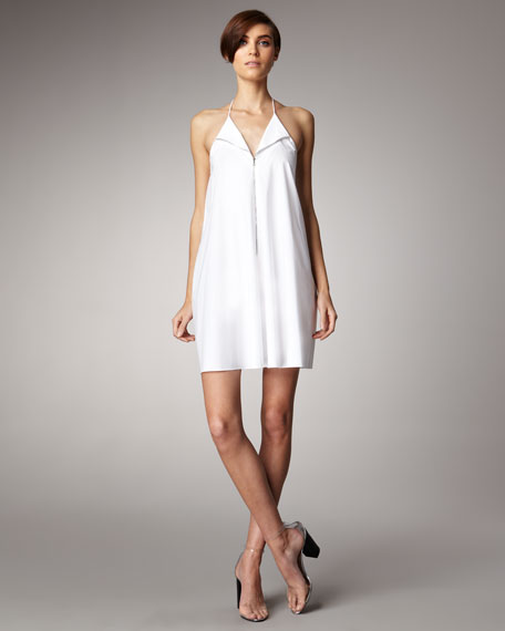Poplin Zip-Front Dress