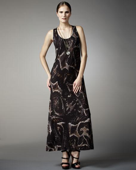 Snake-Print Tank Maxi Dress