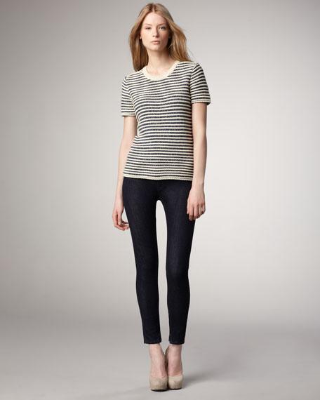 Skinny Ankle-Zip Jeans