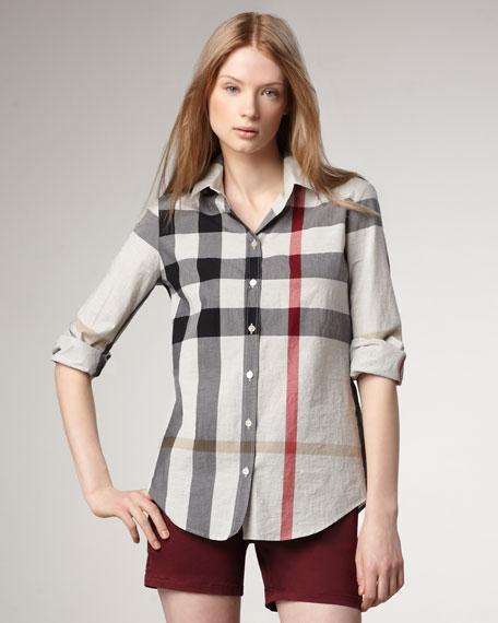 Check Button-Up Shirt