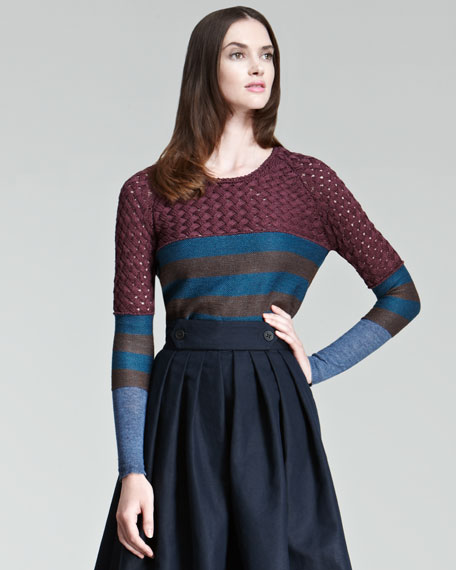 Basket-Stitch Sweater