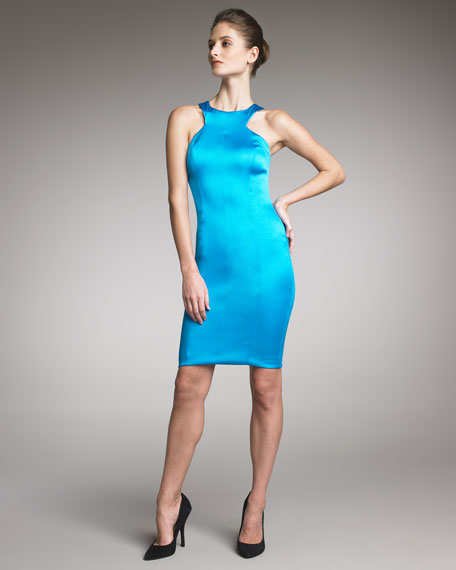 Sateen Sheath Dress