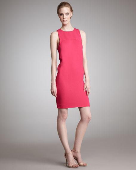 Exposed-Zip Shift Dress