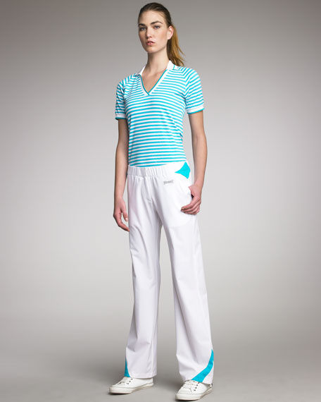 Tech Fabric Tennis Pants, Turquoise