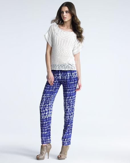 Tie-Dye Silk Pants