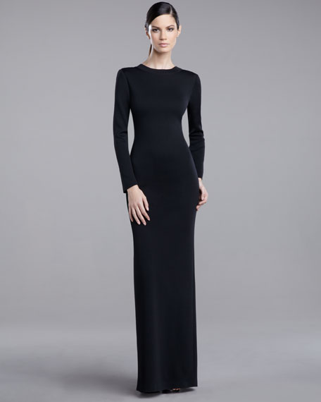 Milano Plunging-Back Gown