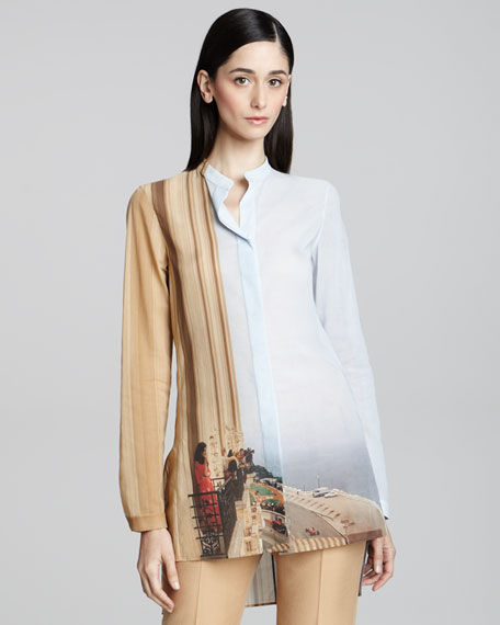 Hotel l'Hermitage Photograph-Print Tunic