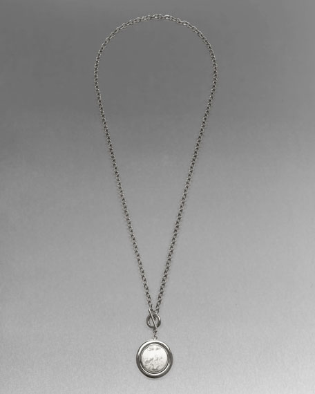 Marbleized-Pendant Necklace