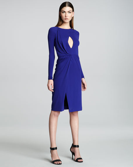 Long-Sleeve Jersey Dress