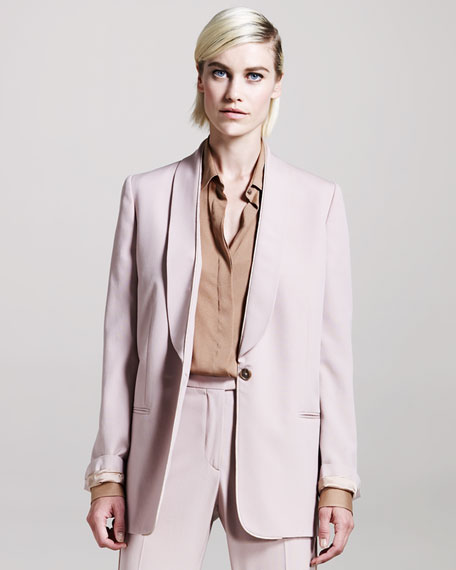Shawl-Collar Tuxedo Jacket