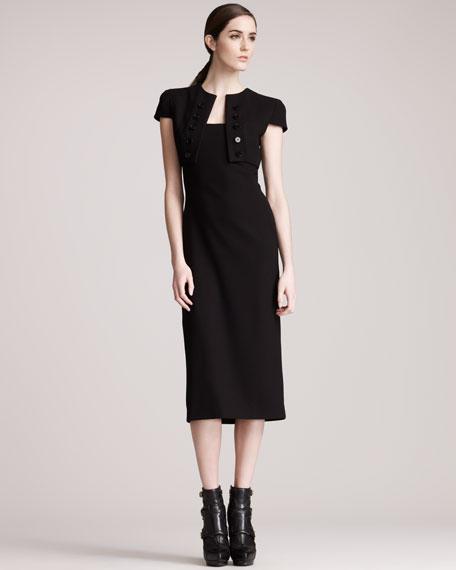 Trompe l'Oeil Bolero Dress, Black