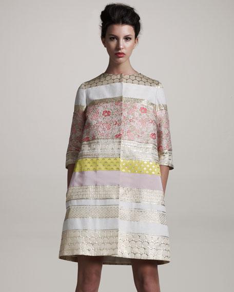 Mixed-Fabric Coat
