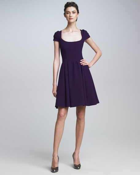 Scoop-Neck Dress