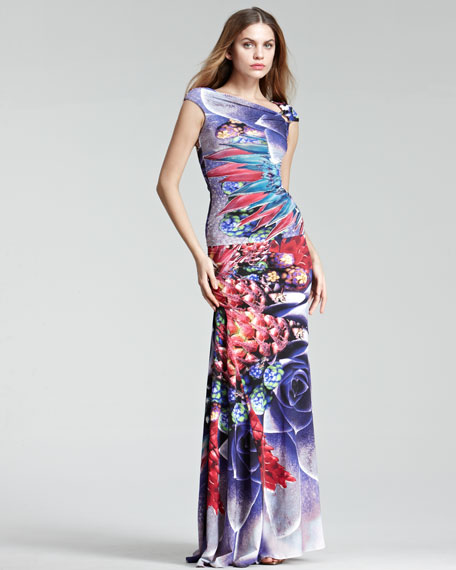 Side-Ruched Mermaid Skirt