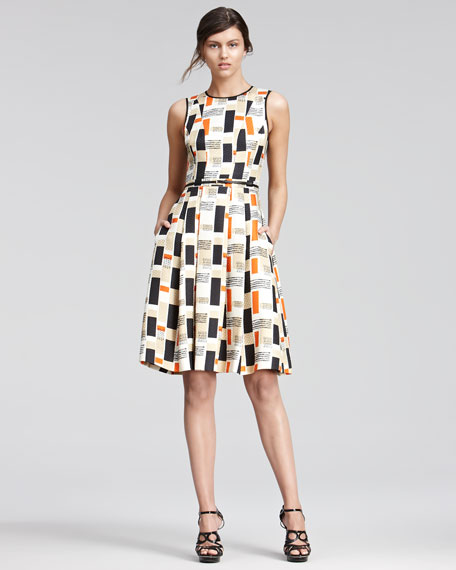 Printed Jacquard Dress