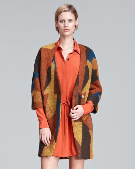 Printed Knit Coat