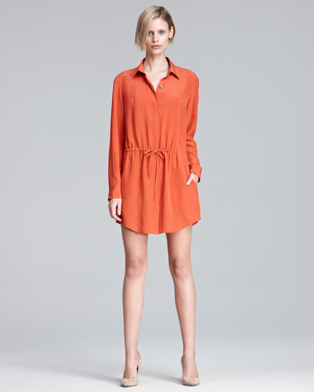 Drawstring Shirtdress