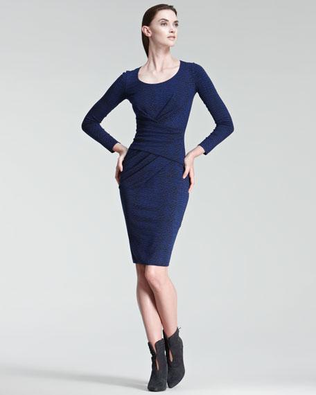 Printed Long-Sleeve Jersey Dress