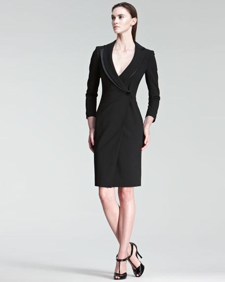 One-Button Coat Dress
