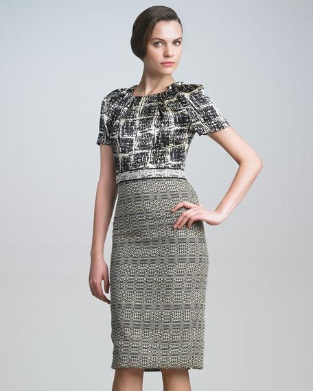 Tweed Combo Dress