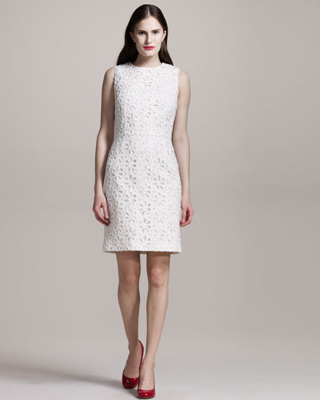 Sangallo-Lace Sleeveless Dress